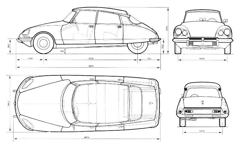 Citrocl sico s l ds el coche del siglo xx por eugenio for Medidas de un carro arquitectura